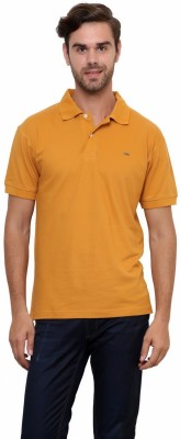 Lemon & Vodka Solid Men's Polo Neck Brown T-Shirt