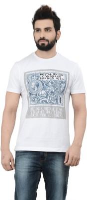 London Bridge Printed Men's Round Neck White T-Shirt