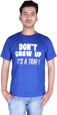 neuf Printed Men's Round Neck Blue T-Shirt