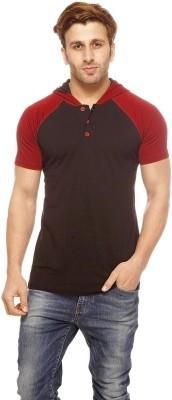 Gritstones Solid Men's Hooded T-Shirt