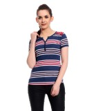Glasgow Striped Women's Round Neck Multi...