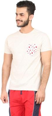 Habitude Geometric Print, Solid Men's Round Neck Multicolor T-Shirt