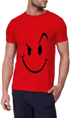 13th Avenue Printed Men's Round Neck Red T-Shirt
