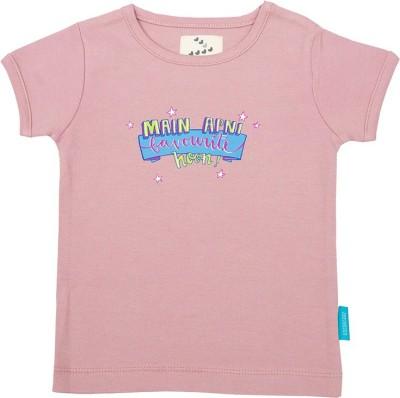 Zeezeezoo.com Printed Baby Girl's Round Neck T-Shirt