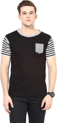 Benoit Printed Men's Round Neck Black T-Shirt