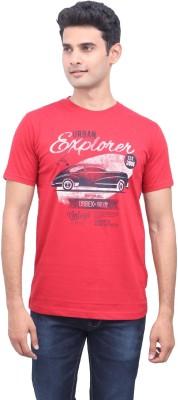 urbantouch Printed Men's Round Neck Red T-Shirt