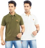 Passport Solid Men's Polo Neck Green, Si...