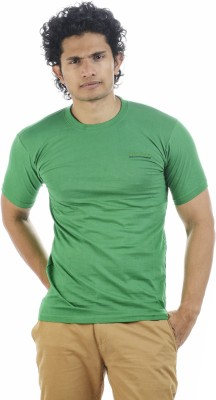 Shapers Solid Men's Round Neck Green T-Shirt