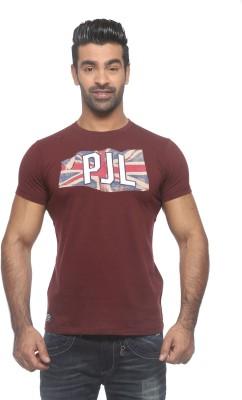 Pepe Printed Men's Round Neck Maroon T-Shirt