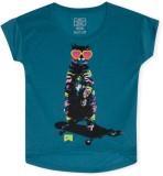 Nike Printed Girl's Round Neck T-Shirt