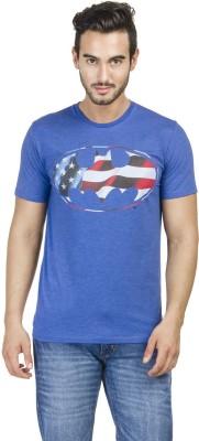 Batman Printed Men,s Round Neck Blue T-Shirt