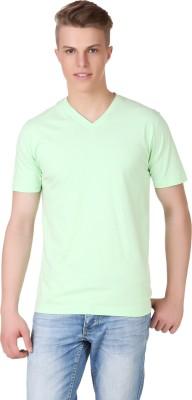Aventura Outfitters Solid Men's V-neck Light Green T-Shirt
