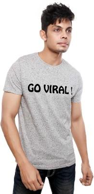 Viral Lifestyle Solid Men's Round Neck Grey T-Shirt