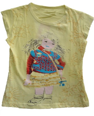 flora Printed Girl's Round Neck T-Shirt