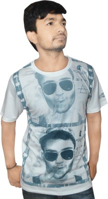 Menology Graphic Print Men's Round Neck Reversible T-Shirt