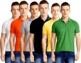 Baremoda Solid Men's Polo Neck Multicolo...