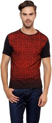 Crux&Hunter Printed Men's Round Neck Red T-Shirt