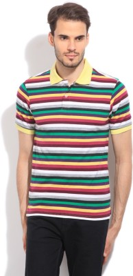 Global Nomad Striped Men's Polo Multicolor T-Shirt
