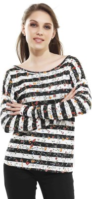 Miss Pink Solid Women's Round Neck Multicolor T-Shirt