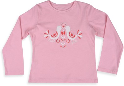 Mothercare Printed Baby Girl's Round Neck Pink T-Shirt