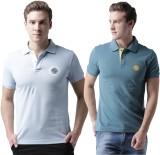 2Go Solid Men's Polo Neck Multicolor T-S...