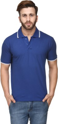 Scott International Solid Men's Polo Blue T-Shirt
