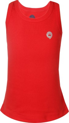 Vitamins Solid Girl's Round Neck Red T-Shirt
