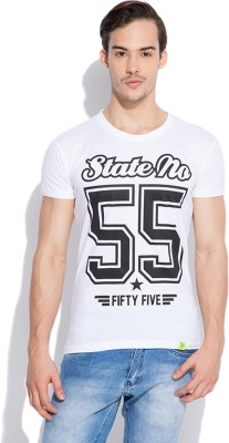 Silly People Graphic Print Men's Round Neck White T-Shirt