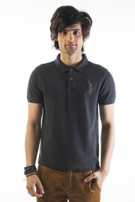 Srota Solid Men's Polo Black T-Shirt