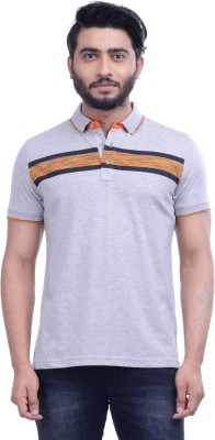 Hoffmen Self Design Men's Polo Neck Multicolor T-Shirt