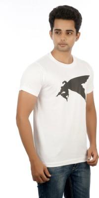 MannMohh Printed Men's Round Neck White T-Shirt