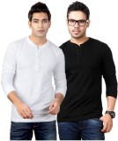 Top Notch Solid Men's Henley White, Blac...