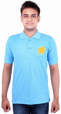 Xensa Embroidered Men's Polo Neck Light Blue T-Shirt