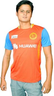 TeesTadka Solid Men's Round Neck Multicolor T-Shirt