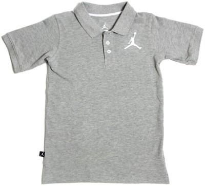 Jordan Kids Solid Boy's Polo Grey T-Shirt