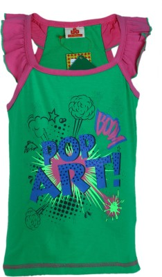 UFO T- shirt For Girls(Green, Pack of 1)