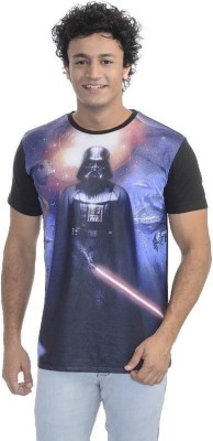 Star Wars Printed Men's Round Neck White T-Shirt