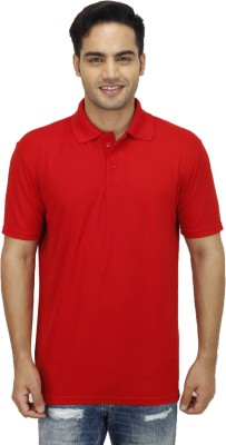 Ishmeet Solid Men's Polo Red T-Shirt