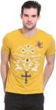 Saiints Printed Men's Round Neck Yellow ...