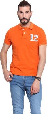 Camino Solid Men,s Polo Orange T-Shirt
