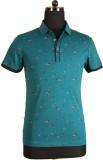 Ashri Printed Men's Polo Neck Multicolor...