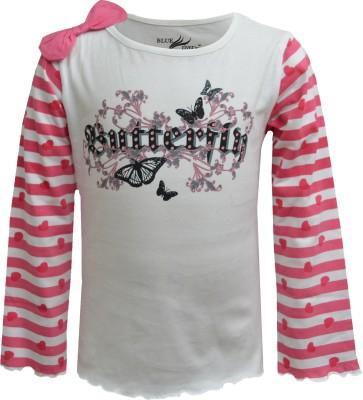 Blueriver Graphic Print Girl's Round Neck T-Shirt