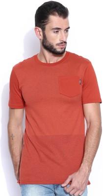 Nike Solid Men's Round Neck Orange T-Shirt