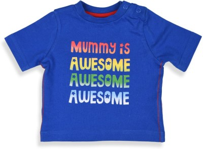 Mothercare Printed Baby Boy's Round Neck Blue T-Shirt