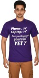 Leep Printed Men's Round Neck Purple T-S...