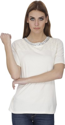 India Inc Embroidered Women's Round Neck T-Shirt
