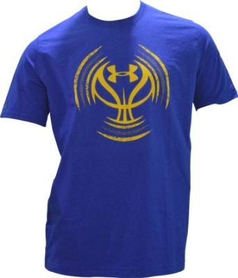 Under Armour Solid Men's Round Neck Blue T-Shirt
