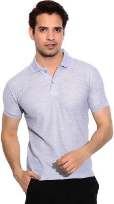 Davie Jones Solid Men's Polo Neck Grey T-Shirt