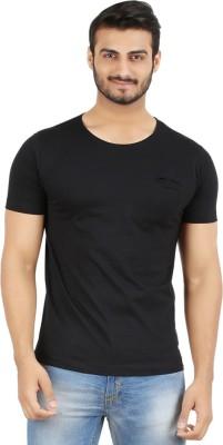 Hoodz Solid Men's Round Neck Black T-Shirt