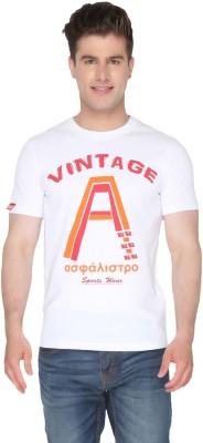 Again Vintage Printed Men's Round Neck White T-Shirt